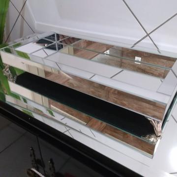 Bandeja Espelho Prata 20,5 x 40,5 cm