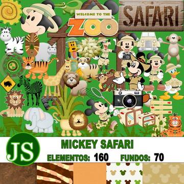 Kit Digital Scrapbook Mickey Safari