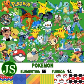 Kit Digital Scrapbook Pokemon