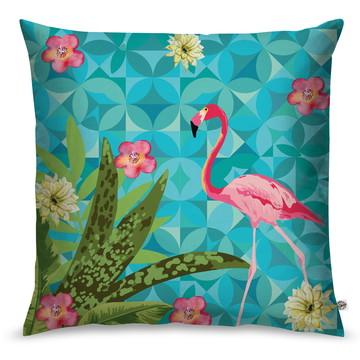 Capa de Almofada Flamingo Pink Acqua