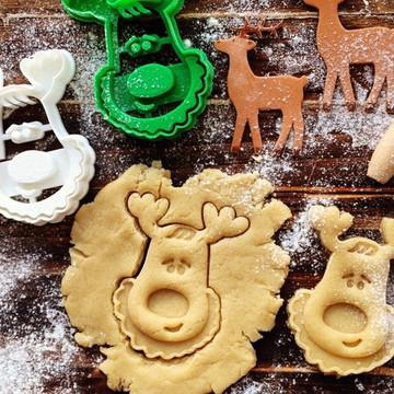 Kit cortador de biscoito d natal 3uni