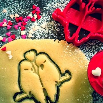 Kit cortador biscoito Namorados 3uni