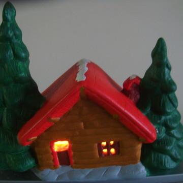 Casa de decoração de Natal para vela