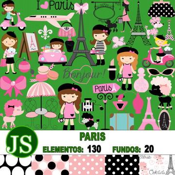Kit Scrapbook Digital Paris