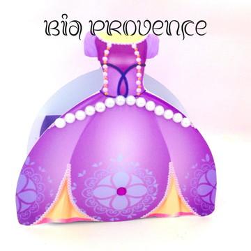 Caixa vestido princesa sofia