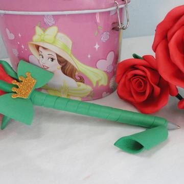 Caneta c/ Rosa Bela e a Fera e Príncipe