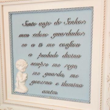 Quadro oração do santo anjo azul bebe