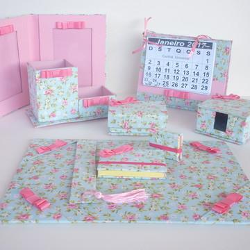 kit escritorio floral