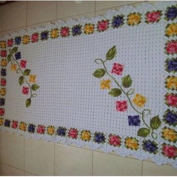 Tapete de sala com flor