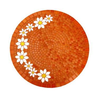 tampo de mesa margaridas laranja 40 cm
