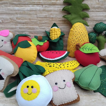 kit frutas e verduras com 18 itens