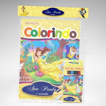 Kit Colorir A Bela e a Fera + brindes