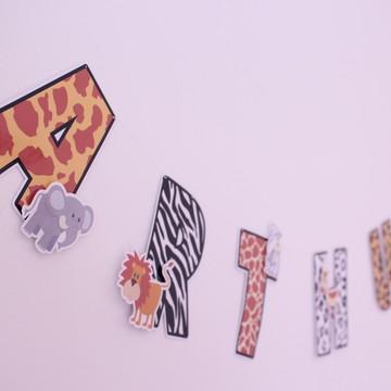 Varal de letras-safari (R$ por letra)