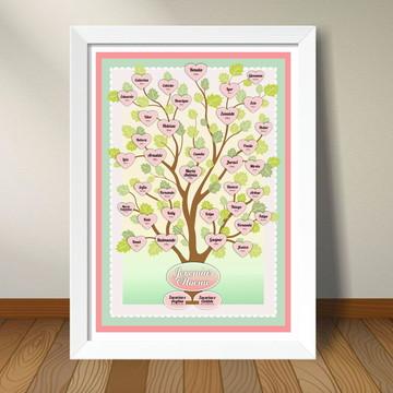 Quadro Árvore Genealógica GRANDE