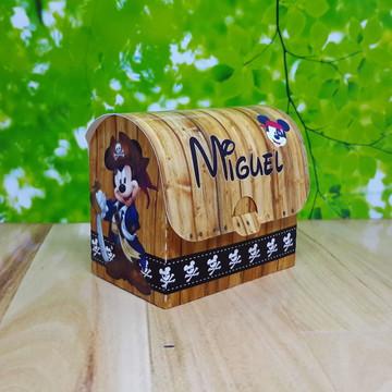 Caixa Baú Mickey Pirata