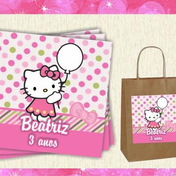 Adesivo para sacola Hello Kitty