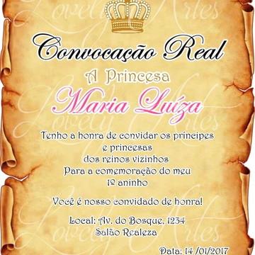 Convite Digital Pergaminho Real
