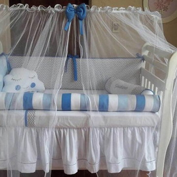 Mosquiteiro Varão Tule Berço Bebê