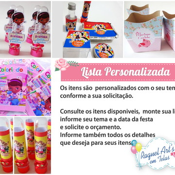 Kit Festa personalizado Impresso