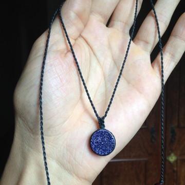 Colar Hippie Regulável Com Pedra Estrela