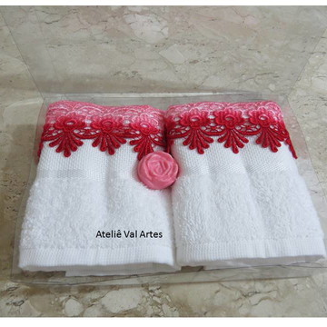 Toalhas de lavabo com Renda Guipir