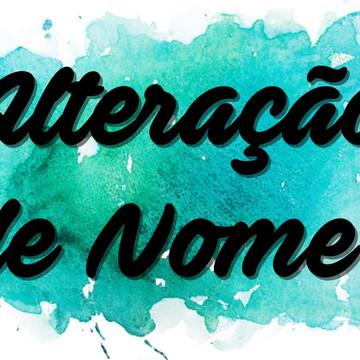 Alteração de Nomes