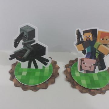 Aplique 3D para latinha Minecraft