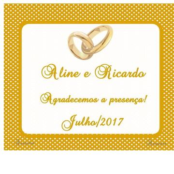 Tag Casamento dourada