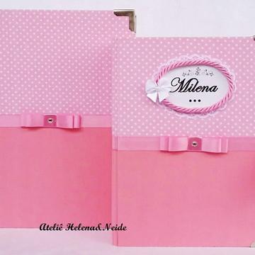 Kit Caixa e Álbum Rosa