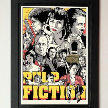 Quadro mdf Pulp Fiction
