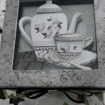 Caixa de cha arte francesa