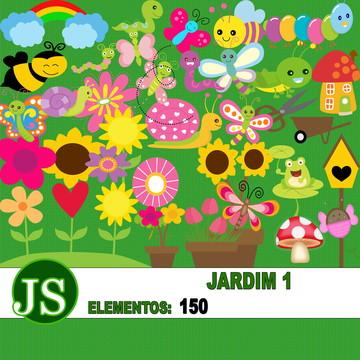 Kit Digital Scrapbook Jardim 01