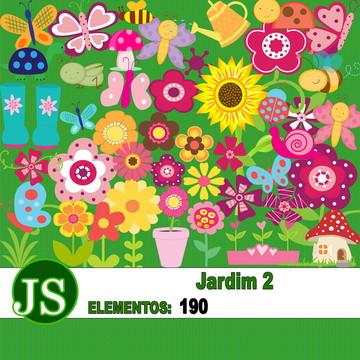 Kit Digital Scrapbook Jardim 02
