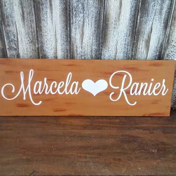 Placa Indicativa Casamento - Nomes