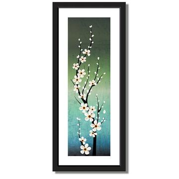 Quadro floral Galhos flor cerejeira