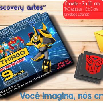 Convite Transformers Rescue Bots