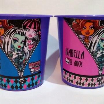 Baldinho de pipoca Monster High