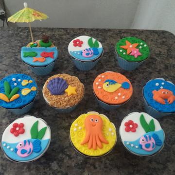 Cupcakes - Fundo do Mar