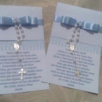 convite ou cartão lembra Crisma/batizado