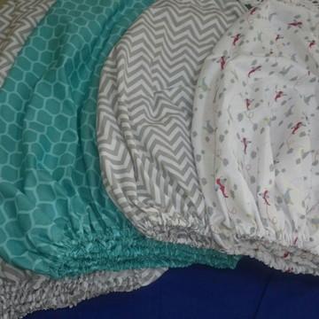 Kit 3 lençóis elásticos