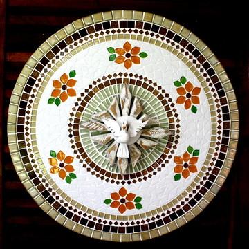 Mandala Divino Espírito Santo Bege 60
