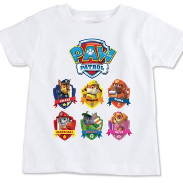 Camiseta Infantil Paw Patrol