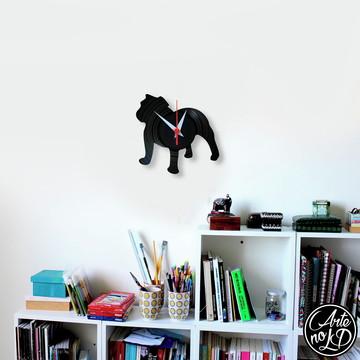 Bulldog Inglês - Relógio de Parede