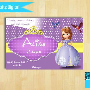 Convite Digital Princesa Sofia