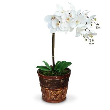 Arranjo de flores artificiais orquides