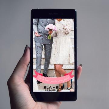 Filtro Snapchat Casamento Feliz