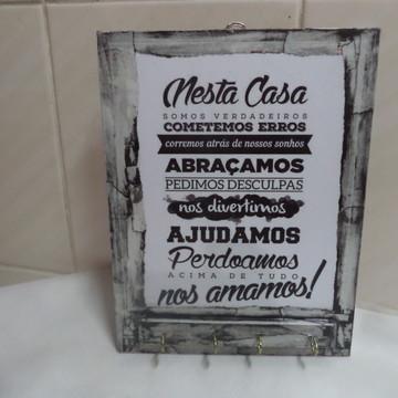 Porta-Chaves 25x19 cms - Mensagem