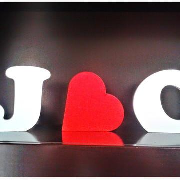 Letreiro de Casamento + Coração