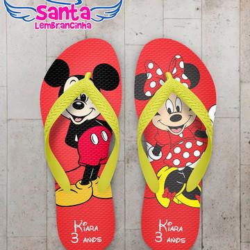 Chinelo Infantil Tema Mickey e Minnie