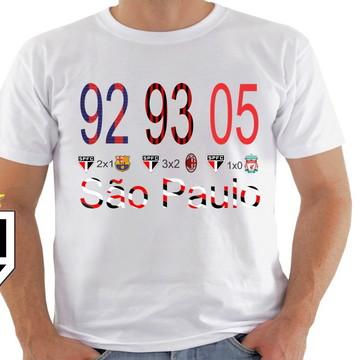 camiseta são Paulo Tricampeão Mundial